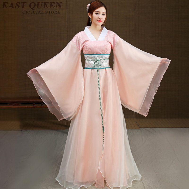 Chinese folk dance costume clothing hanfu ancient fan dance traditional Chinese dance costumes Stage dance wear AA3234