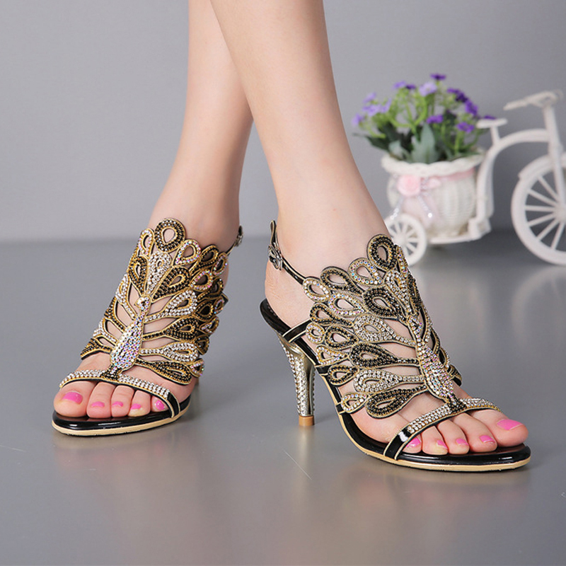 Spring New Pvc Charm Runway Shoes 15cm High Heel Sandals Crystal Bridal Shoes With Traditional Methods Office & School Supplies