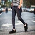 Весна Осень 2016 Корейский Длинные Брюки Мужчин Slim Штаны для Мужчин Гарем Брюки Случайные Pantalon Homme Classique Дизайн