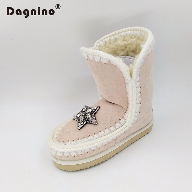 54d725a7082cf DAGNINO Original Winter Warm Eskimo Suede Snow Boots Women High Quality  Flats Zapatos Mujer Ankle Slip