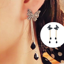 E0280 New Arrival Vintage Butterfly Long Tassel Drop Earrings For Women Fashion Banquet Wedding Jewelry Exquisite Birthday Gift