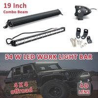 Slim Spot Combo Car 4x4 Flood Driving 54W 19'' Offroad SUV Led Light Work Bar Beam Type FLOOD & SPOT & COMBO