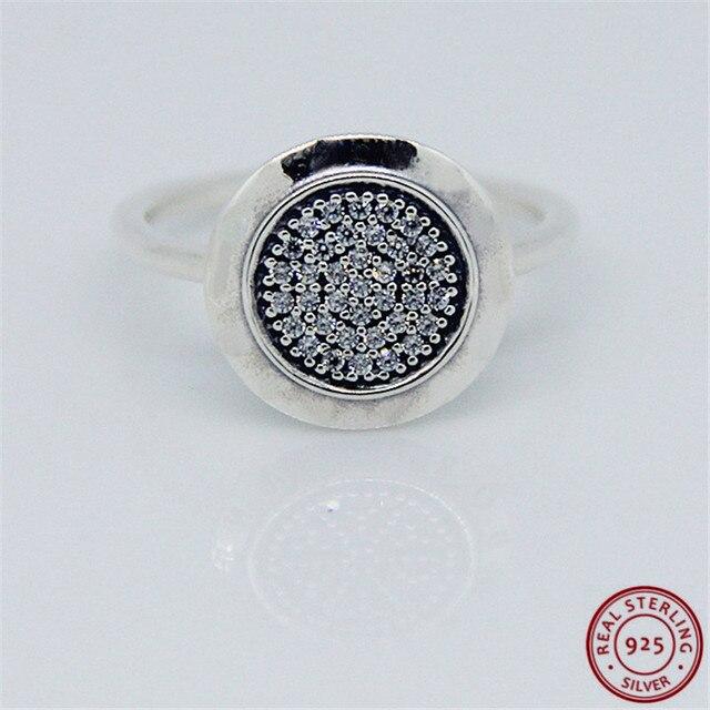 925 prata esterlina clássico assinatura anéis de instrução para mulher jóias característica central brilhante disco pave conjunto claro cz flr021