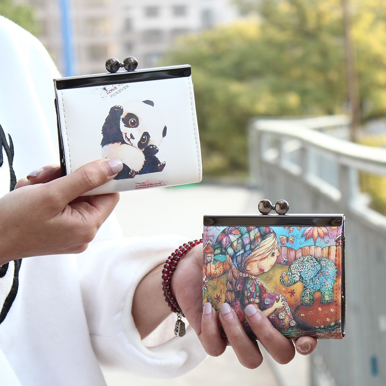 2016 vintage printing cartoon Owl coin purse,Girl clutch zero wallet,women Hasp Change purse Lady Female mini Short wallet addfavor acrylic handle beauty cosmetic face clean mask brushes eyes skin care make up tools soft makeup synthetic hair brush