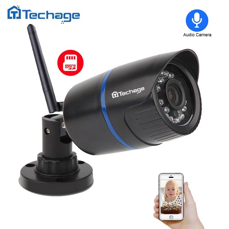 Techage HD 1080 p 960 p 720 p Wifi IP Kamera Audio Record Sound Drahtlose Kamera P2P ONVIF IR Nacht vision 2MP CCTV Außen Kamera