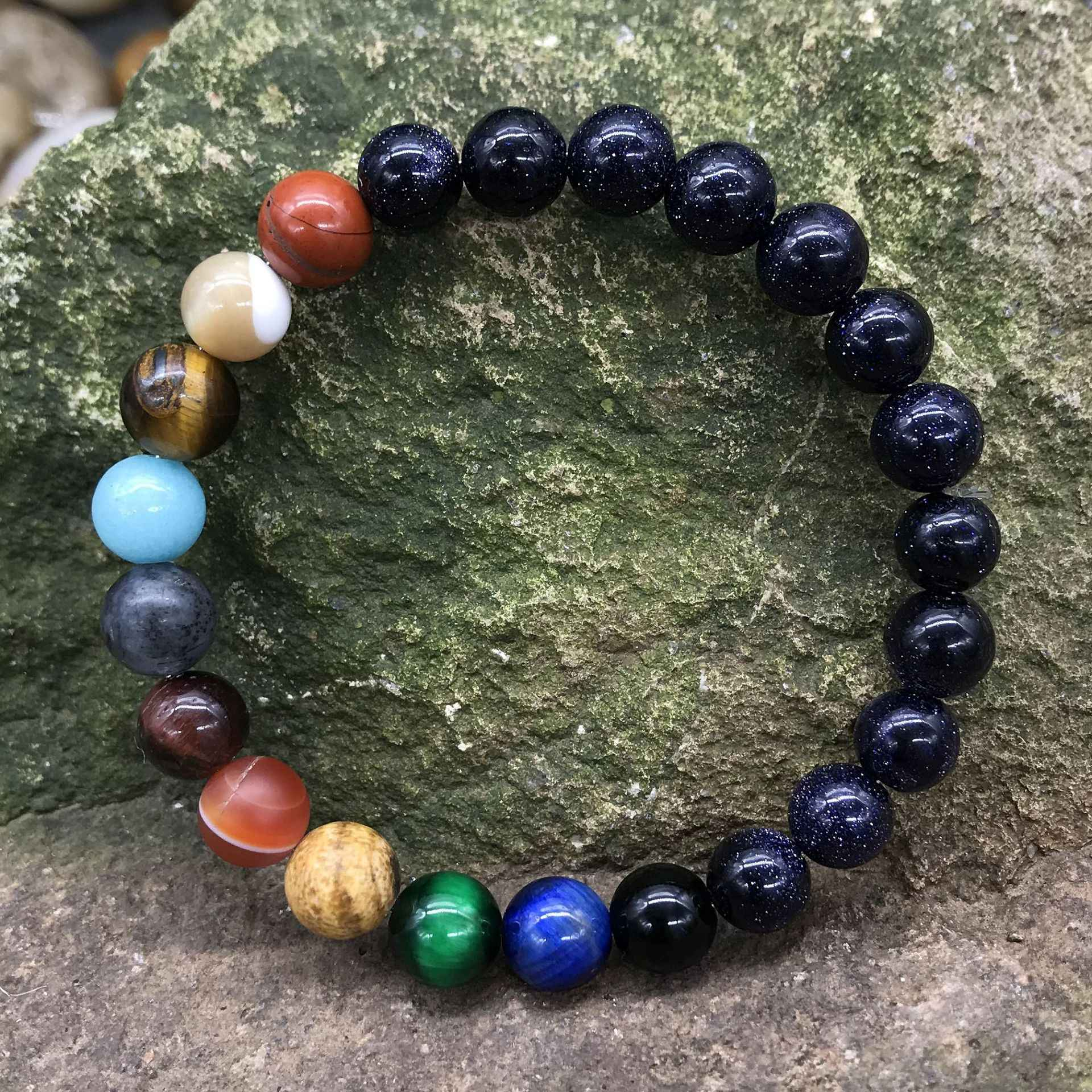 9 planètes pierre naturelle planètes perles Bracelet bracelets Couples bracelets pour femme ou hommes 2019 créatif mode bijoux cadeaux