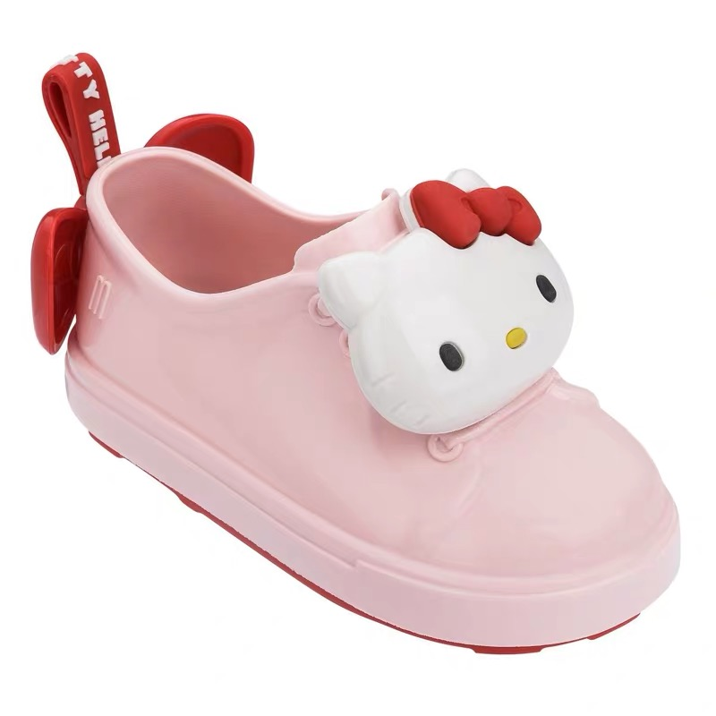 a239eeed8 Hot Mini Melissa Style Cute Hello Kitty Jelly Sandals Girls Shoes Jelly  Shoes Dargon Sandals Girl Non-slip Kids Sandals Toddler