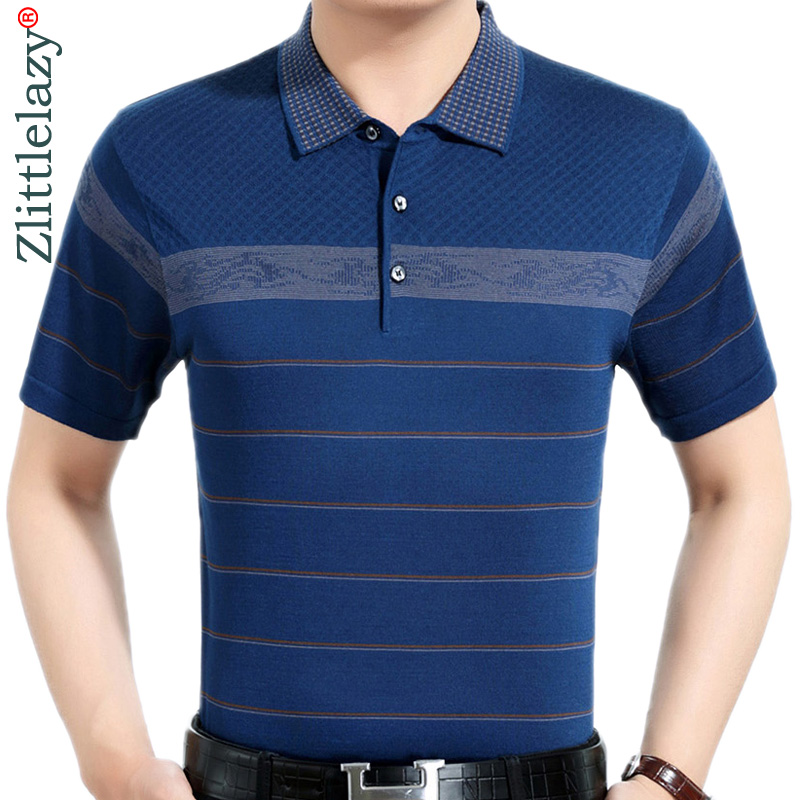 Summer   polo   shirt men short sleeve   polos   shirts striped slim fit mens pol clothes dress bodybuilding streetwear poloshirt 3710