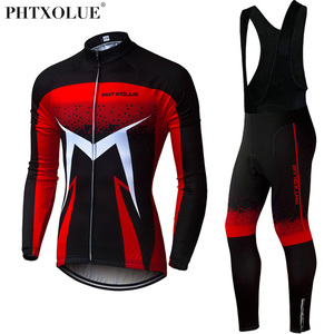 Image 2 - Phtxolue Breathable Long Sleeve Cycling Set Mountain Bike Clothing Autumn Bicycle Jerseys Clothes Maillot Ropa Ciclismo