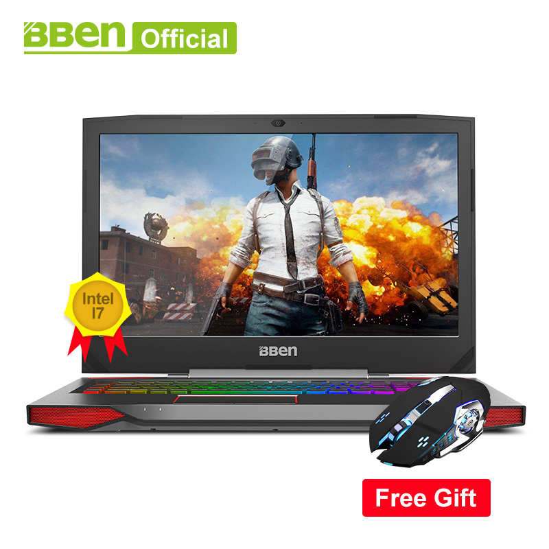Bben G17 игровой ноутбук NVIDIA GTX1060 GDDR5 17,3 pro windows10 intel 7th gen. i7-7700HQ DDR4 8 ГБ/16 ГБ/32 ГБ Оперативная память M.2 SSD