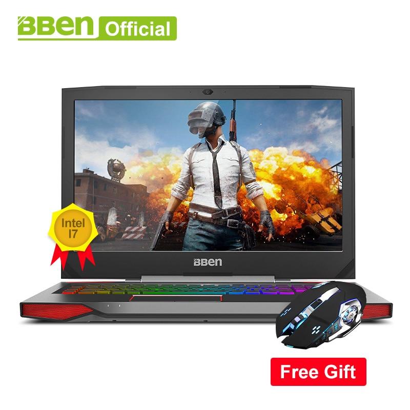 Bben G17 Gaming laptop NVIDIA GTX1060 GDDR5 17.3 pro windows10 intel 7th gen. i7-7700HQ  DDR4 8GB/16GB/32GB RAM M.2 SSD