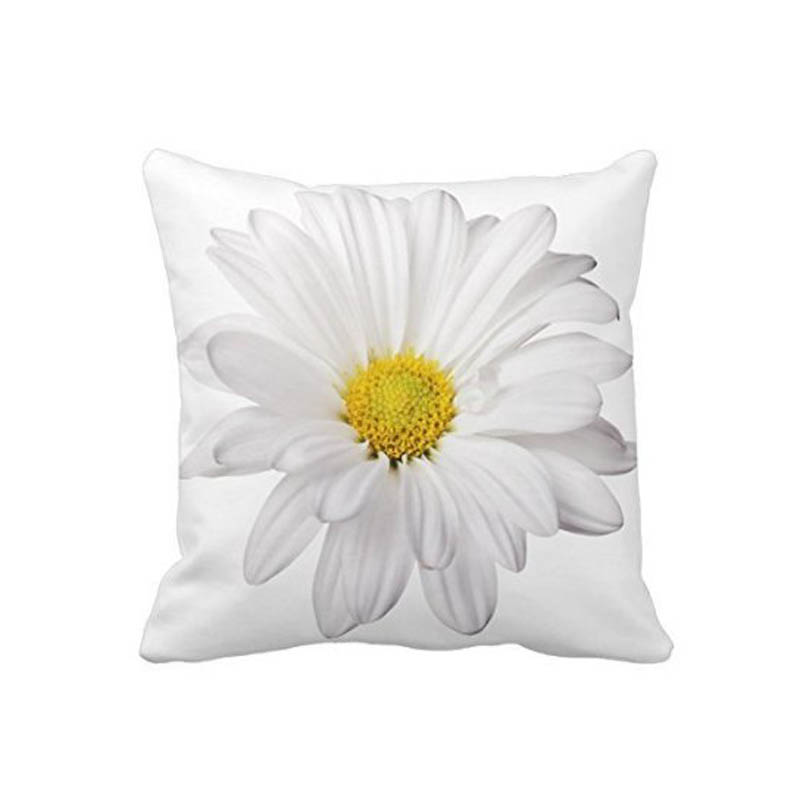 daisy flower with bright yellow heart cushion cover decorative pillow case for sofa home decorative almofadasho bright yellow sofa living