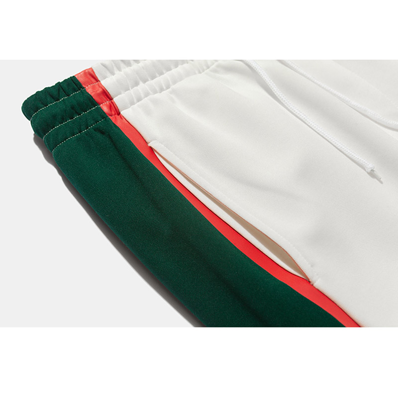 Hfnf Green White Stitching Fashion Retro Sports Men's Pants 2019 Males Sports Pants Street Letter Print Trousers