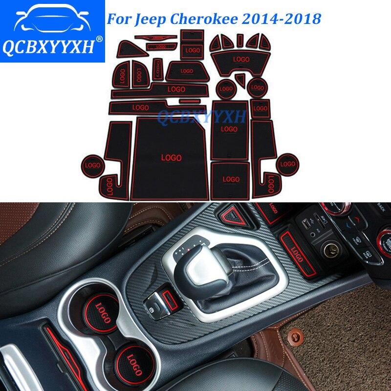 28Pcs/Set Car Styling Slot Pad Interior Door Groove Mat Latex Anti-Slip Cushion For Jeep ...