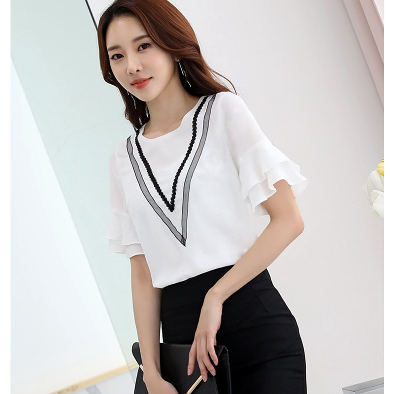 2017 Hot Sales font b Women b font Summer Casual Fashion Loose Chiffon font b Shirts