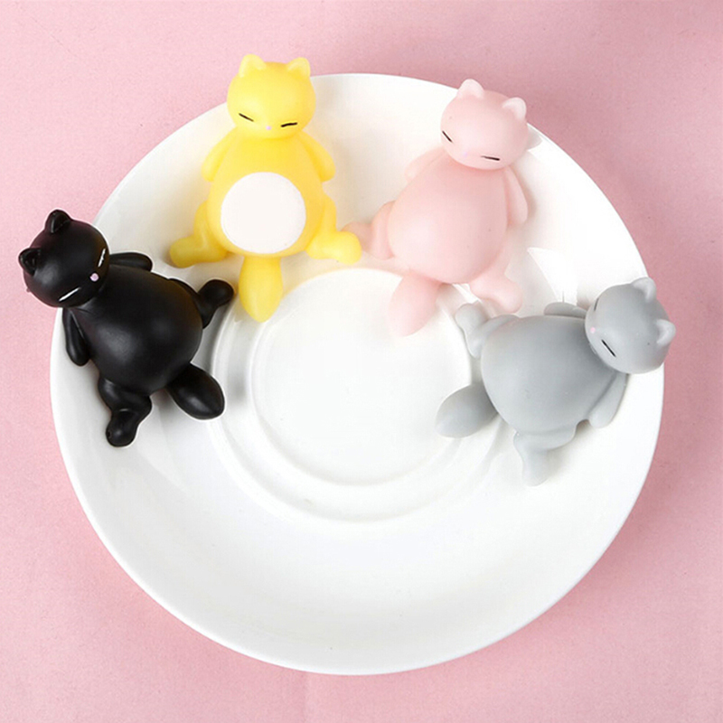 1Pc Cute Squishy Cute Cat Antistress Ball Squeeze Mochi Rising Abreact Soft Sticky Stress Relief Funny Gift Toy