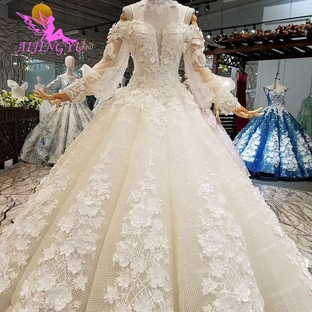 AIJINGYU Ucuz Gelinlik Bana Yakın Elbisesi Düğün Kısa Beyaz Artı Boyutu Amerika Alternatif Gri elbise Fildişi Elbise