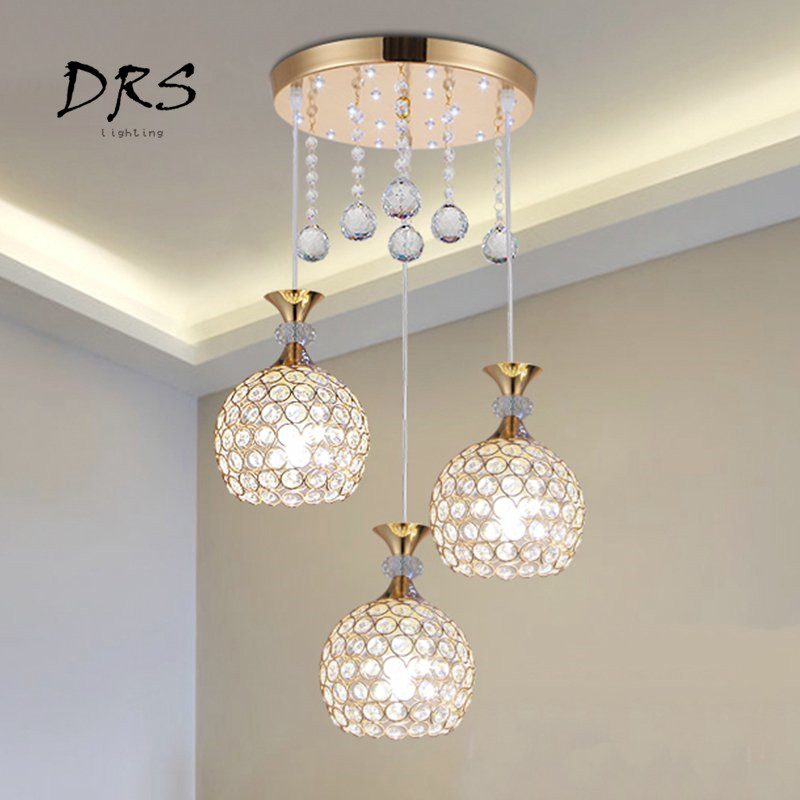 Modern Crystal Ball LED Pendant Lights for Living Room Home Lighting Balcony Bedroom Study Bar Hotel Restaurant Pendant LampModern Crystal Ball LED Pendant Lights for Living Room Home Lighting Balcony Bedroom Study Bar Hotel Restaurant Pendant Lamp