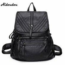 Aidoudou роскошные дизайнерские модные рюкзаки натуральная кожа женские дорожные рюкзак высокое качество большой школьные сумки для девочек
