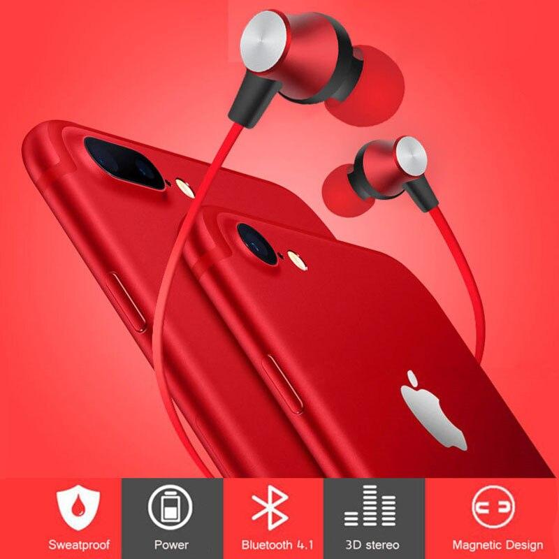 Bass Bluetooth Earphone Wireless Headphones Earphones Magnetic Stereo Headset Earbuds for Sony Xperia XA XA1 Ultra Dual