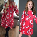 Mother Daughter Dresses new 2017 Party Dress Long Sleeve Family Matching Outfits Christmas Snowman Print Dresses Vestidos kids