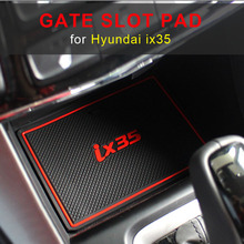 Mata drzwi samochodu rowek dla dla Hyundai IX35 2009-2015 antypoślizgowe maty drzwi wewnętrzne dla IX35 2018 -2019 czerwony biały tanie tanio Tworzywa sztuczne