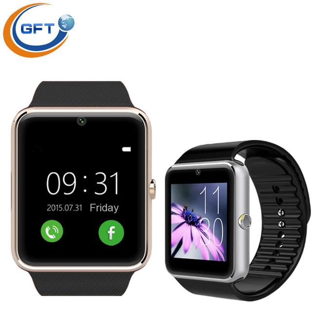 Gft GT08A dispositivo wearable Bluetooth relógio inteligente com Slot para cartão SIM e telefone celular NFC tela sensível ao toque e à prova d ' água homens relógio de pulso