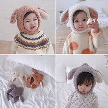 2b8a98c1745 Cute Infant Babies Girls Plush Hat 2018 Toddler Boy Winter Stuffed Hat  Bunny Ears Newborn Baby Hat Kids Hats   Caps for 0-5yrs