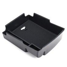 Ящик для хранения автомобилей внутренняя центр бардачок подлокотник Многофункциональный укладка коробка для Hyundai Elantra 2016 2017 Пластик черный