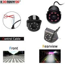 Koorinwoo Multifunzionale Interruttore Filo CCD Anteriore Forma/Auto Videocamera vista posteriore/Laterale della Macchina Fotografica Dello Specchio Video Inverso Dell'automobile di Assistenza Al Parcheggio