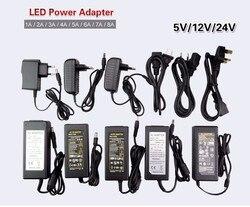 Светодиодный Питание 5 В, 12 В, 24 В постоянного тока, 2A 3A 5A 7A 8A 10A для 5 В, 12 В, 24 В постоянного тока, светодиодный свет прокладки Бесплатная достав...