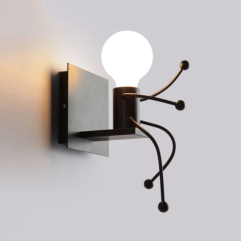 Lâmpadas de Parede de ferro moderna lâmpada de Instalação : Montado na Parede