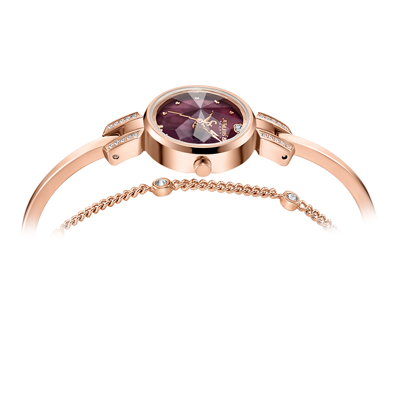 Petite montre femme japon Quartz mode heures Bracelet coupe verre strass anniversaire fille noël cadeau Julius boîte - 3