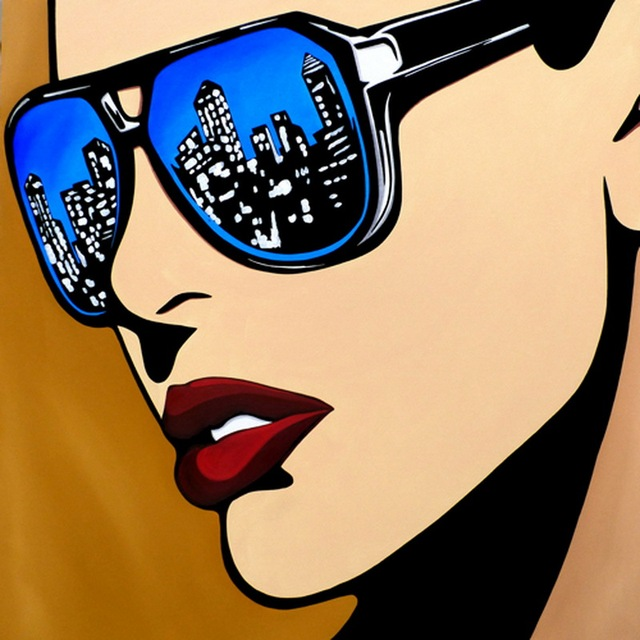 Handmade painting pop art urban vision on oil painting canvas for ...