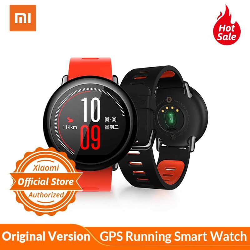 Global Versão Xiaomi Huami AMAZÔNIA Ritmo GPS Rodando Relógio Inteligente Bluetooth 4.0 Monitor de Freqüência Cardíaca Esportes CE IP67 À Prova D' Água