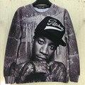 Мужчины / женщины 3D кофты принт знаки портрет Wiz Khalifa хип-хоп rock певица панк пуловер толстовки