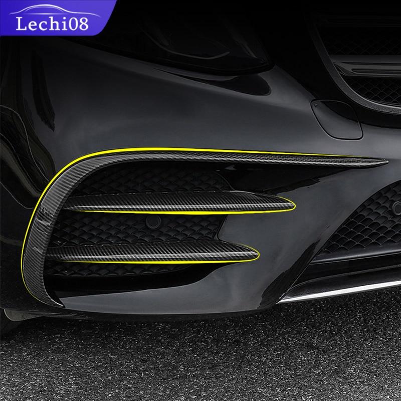 For 2016-2019 Mercedes  E W213 Amg  Mercedes Benz E W213 E43 E63 Front Fog Light Eyebrow Trim Trim Accessories