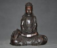 christmas 9Tibet Buddhism bronze Wenshu Manjushri Lion Guanyin Bodhisattva goddess Statue halloween