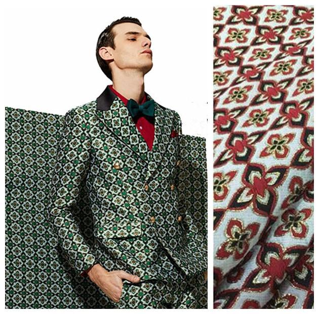 140cm žakárové textilie metr křupavé sako DIY žakárové polyesterové tkaniny velkoobchod žakárové polyesterové tkaniny