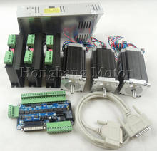 Ship from EU,CNC Router 3 Axis kit, 3pcs TB6600 stepper motor driver+one breakout board+3pcs Nema23 425 Oz-in motor+power supply(China)