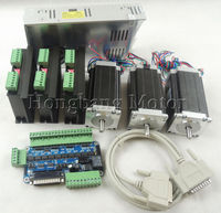 Ship from EU,CNC Router 3 Axis kit, 3pcs TB6600 stepper motor driver+one breakout board+3pcs Nema23 425 Oz in motor+power supply