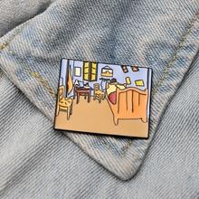 Homegaga Van gogh painting 90s Zinc pins para backpack clothes medal for bag shirt insignia badges brooches men women D1889