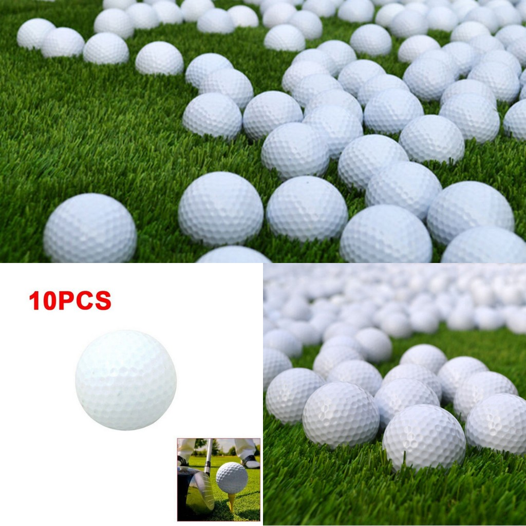 New 10pcs Golf Balls Outdoor Sports White PU Foam Golf Ball Indoor Outdoor Practice Training Aids Drop Shipping