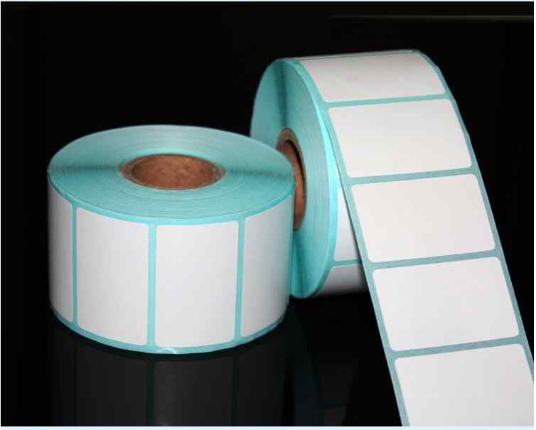 700 PCS/Roll 20*10 Mm Perekat Thermal Label Kertas Stiker Label Harga Supermarket Kosong Label Langsung Cetak Tahan Air