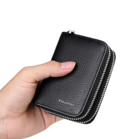 Men's zipper cards, bags, multi cards, zero pocket wallets, cowhide organ type bank card credit card clips