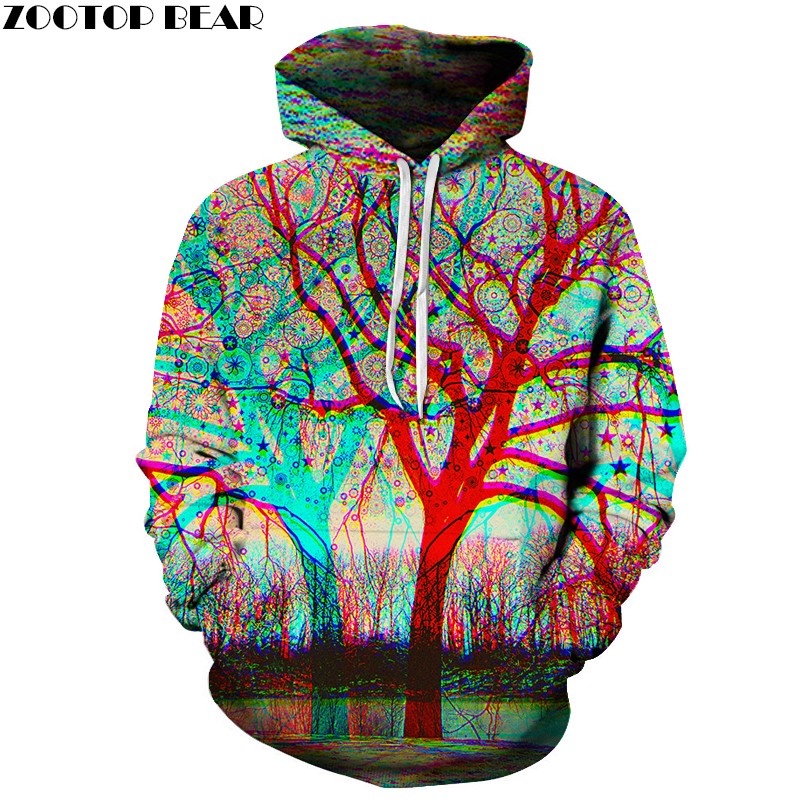 Hot Sale 6XL Tree 3d Hoodies Men Sweatshirts Unisex Fashion Pullover Novelty Streetwear  ...