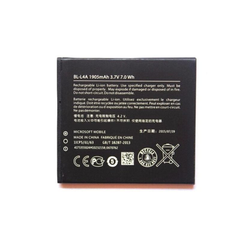 20PCS 100% Genuine Real BL-L4A 3.7V 1905mAh Battery for NOKIA Lumia 535 BL-L4A mobile phone with high quality