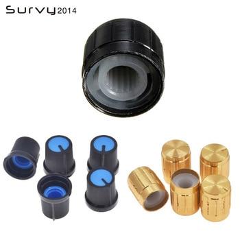 цена на 5PCS Useful Volume Control Rotary Knobs  For 6mm Dia Knurled Shaft Potentiometer