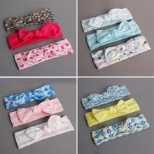 2017 Brand New Beauty 3Pcs Baby Girls Infant Toddler Flower Bow Headband Lovely Hair Band Accessories 0-3T