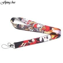 Flyingbee Freddie Mercury Keychain lanyard Badge Lanyards/ Mobile Phone Rope/ Key Lanyard Neck Strap Accessories X0086